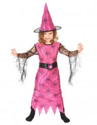 Rosa häxan - Halloweendräkt för barn