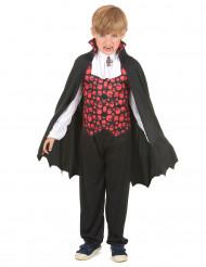 Vampyrdräkt med snygg väst - Halloweenkläder för barn