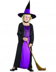 Skicklig häxa - Lila Halloweenkostym för barn