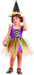 Färgglad häxa - Påsk- eller Halloweendräkt för barn