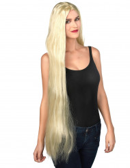 Sessan i tornet - Jättelång blond peruk för vuxna