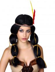 Maffig Indianperuk - Peruk för vuxna till maskeraden
