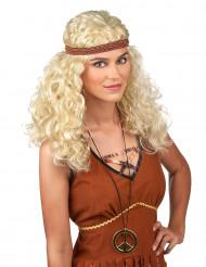 Blond hippieperuk