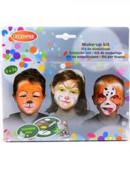 Vilddjur - Smink kit med 6 färger