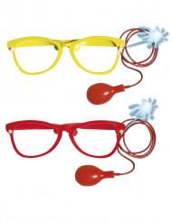 Jätteglasögon för clown med sprut vuxna