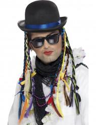 Hatt med flätor i färg för sångare vuxna