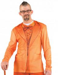 Orange kostym-t-shirt vuxen