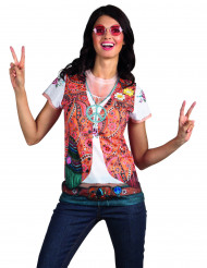 Hippie T-shirt med väst vuxen