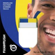 Blågult smink för Sverige-supportern