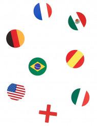 150 konfetti med olika flaggor
