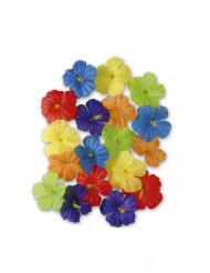 Mångfärgade blommor i tyg