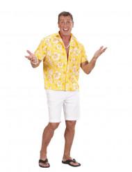 Gul Hawaiiskjorta herr