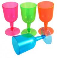 20 färgglada vinglas i plast till picknicken - Festdukning
