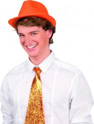 Orange Borsalinohatt Vuxen
