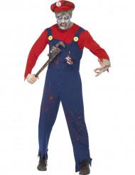 Zombie rörmokare - Halloweenkostym för vuxna