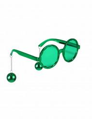 Gröna glasögon med discokulor för vuxna