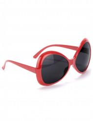 Röda Discoglasögon Vuxen
