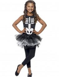 Skelettdräkt Halloween med svart tyllkjol