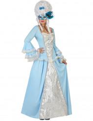 Maskeraddräkt blå barockprinsessa vuxen