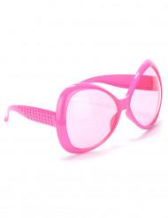Rosa Discoglasögon Vuxen