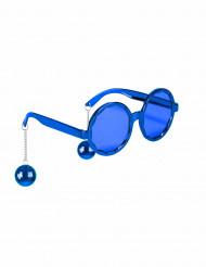 Blå discoglasögon för vuxna