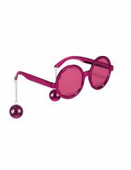 Rosa glasögon med discokulor - Maskeradtilbehör för vuxna