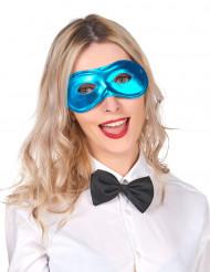 Metallglänsande Blå Mask Vuxen