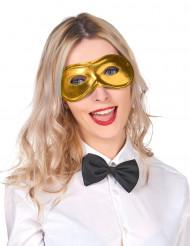 Metallglänsande Gyllene Mask Vuxen