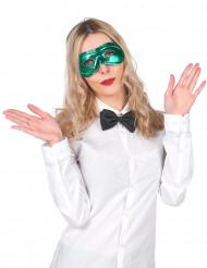 Metallglänsande Grön Mask Vuxen