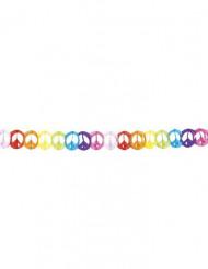 Peace - Regnbågsfärgad girland i papper 4 m