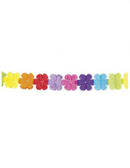 Multifärgad pappersgirland med blommor 4m