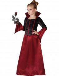 Rosenröd vampyr - Halloweenkläder för barn