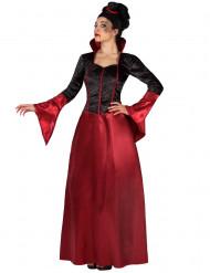 Röd och svart vampyrdräkt vuxen Halloween