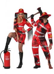 Paret som brann inne - Halloweenkostymer för par