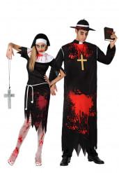 Fader & Syster Zombie - Halloweenkostym för par