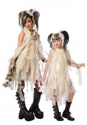 Mumiemamma och lill mumien - Pardräkt till Hallwoeen