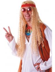 Extralång Blond Hippieperuk Vuxen