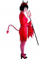 Röd Djävulsvans Halloween Vuxen