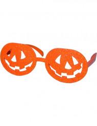 Orangefärgade pumpaglasögon vuxen Halloween