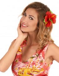 Röd hibiskus - Hårspänne i Hawaii-stil för vuxna