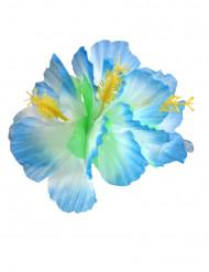 Blå hibiskus - Hårspänne till temafesten