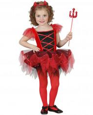 Maskerddräkt djävulballerina barn