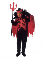 Röd djävulsdräkt för barn till Halloween