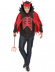 Röd Djävul Halloween Maskeraddräkt Man