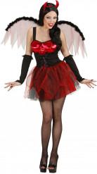 Snygg röd djävulsdräkt för vuxna till Halloween