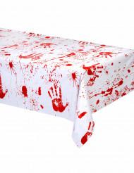 Plastduk blodiga handavtryck till Halloween
