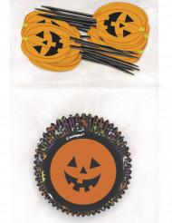 Muffinsformar och pumpastickor - Halloweenpynt
