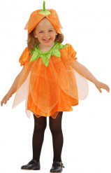 Pumpadräkt med paljetter barn Halloween