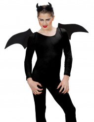 Svart demon-set Halloween
