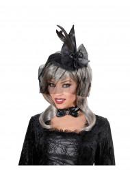 Minihäxhatt med slöja vuxen Halloween